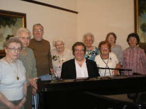 Joe with his fans, the residents of Rochester Legacy